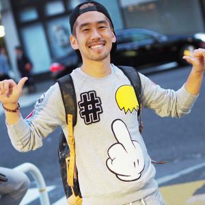 元ロアッソ熊本の斉藤紀由さんが着こなす!! スペンドのパッチスウェット