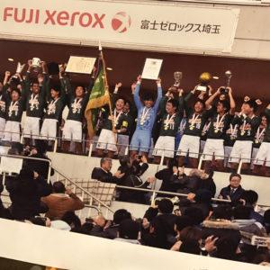 青森山田高校の全国優勝祝勝会へ