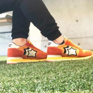 足元から春への準備を!アトランティックスターズのオレンジカラースニーカー!