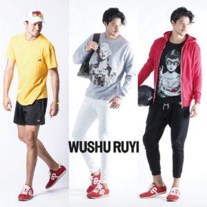 RED RED RED!!異なるスタイルで楽しむWUSHU RUYIのスニーカー♡