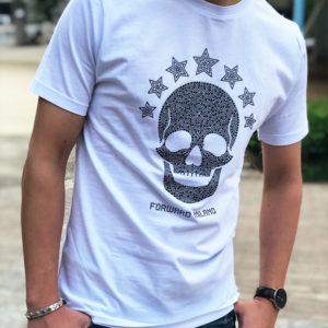 輝くスカルがアクセントに!これからの時期に持っていたいForward MilanoのスカルドットTシャツ!