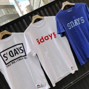 夏の定番!S'DAYSのロゴTシャツでオシャレを楽しもう!