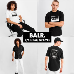 【新登場】BALR. 遂に登場!注目の新作Tシャツが全店舗にて発売開始!