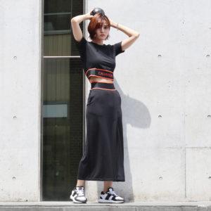 カルバンクラインパフォーマンス|ロング丈で大人っぽく♡スリットロングスカートに注目!