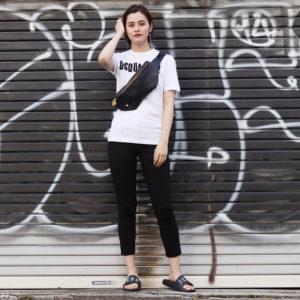 DSQUARED2|モノトーンで決める!ロゴTシャツでシンプルコーデ♡