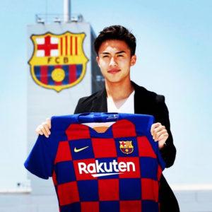 FCバルセロナが、安部裕葵選手と4年契約を結んだことを正式発表!!