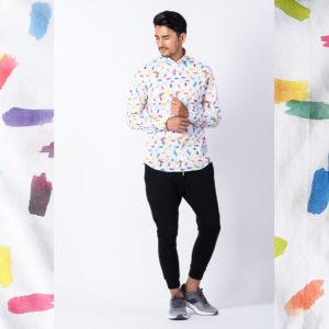 BASTONCINO|大人のシャツの着こなし術!ポップデザインでインパクトを!