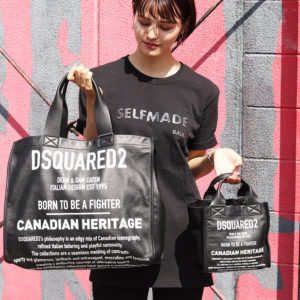 DSQUARED2|柔らかなレザー素材を使用したスクエア型ショッピングバッグ!