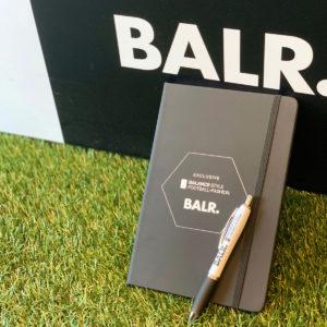 【期間限定】幻アイテムが復活!「BALR. × BALANCE STYLE」ノート&ペンを1万円以上お買上げの方にプレゼント!!