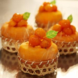 季節を感じる柿♡丸ごと柿のケーキをいただきました!