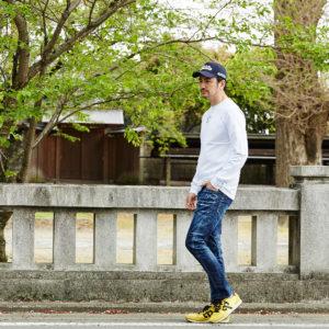 SPEND & WUSHU RUYIで差し色カラーを使った春のお散歩スタイルに!