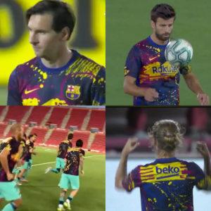 FCバルセロナのファッション性が高すぎるトレーニングシャツが話題に!!