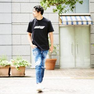 Upside Downなロゴで差をつける!MSGMの個性的なブラックTシャツ!