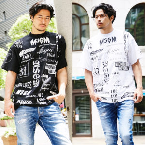 個性的なデザインが魅力的!どこから見ても映えるMSGMのお洒落Tシャツ!