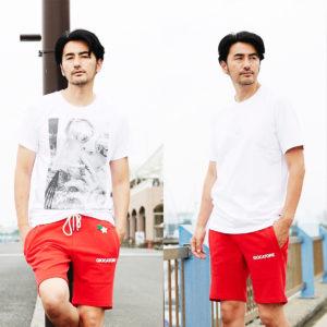 GIOCATORE|新作RED SHORTSに合わせるTシャツは夏らしくホワイトで決める!
