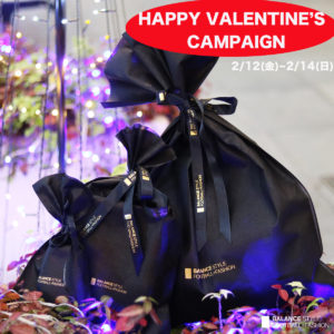 """【店舗限定】「HAPPY VALENTINE'S CAMPAIGN」を2月12(金)〜 2月14(日)まで開催!3万円(税抜)以上の購入で""""Tシャツ""""をプレゼント!"""