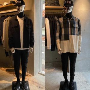 バランススタイル福岡|クールに魅せるブラックと独創的なデザインがポイントの春先取りコーデ!