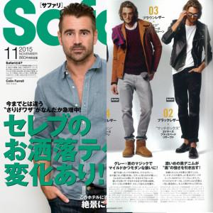 Safari 11月号掲載『AG Jeans』