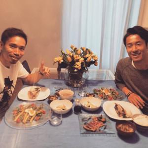 明治大学出身の山田選手と長友選手の2人がミラノで再会!!