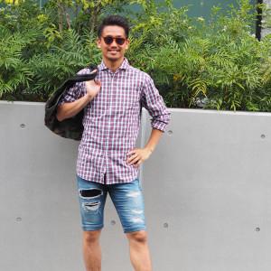 夏直前! シャツ×ハーフパンツでこなれたサマースタイル