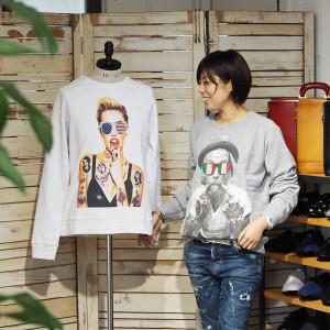 """Tシャツと揃えたいSPENDの""""ITALIAN BEARD"""" &""""AMERICAN""""のスウェット"""