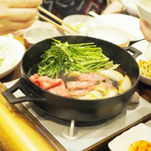 10月のお疲れ様会は「松坂牛」と「佐賀牛」の食べ比べすき焼き!