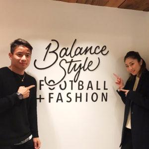 C大阪の松田陸選手&モデルの七菜香さん夫妻がご来店