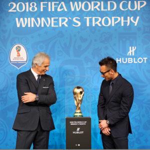 1日限定!2018年サッカーワールドカップトロフィーが表参道ヒルズ「HUBLOT」にて公開!