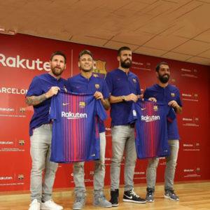 楽天とFCバルセロナがメイングローバルパートナー契約!スター選手達が緊急来日!