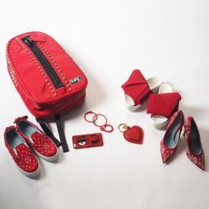 """差し色""""RED""""でコーデにカラーチャージ♡"""