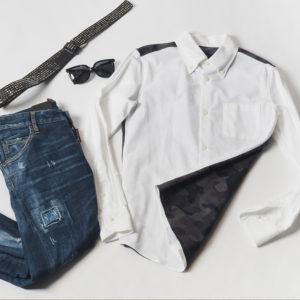 1PIU1UGUALE3の遊び心のあるホワイトシャツでコーデを格上げ♡