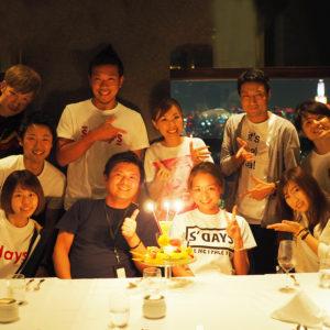 店長 高畠さんの誕生日をNEW YORK GRILLにてお祝い♡