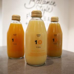 豊富な種類のみかんジュースが味わえる、10FACTORY 銀座店